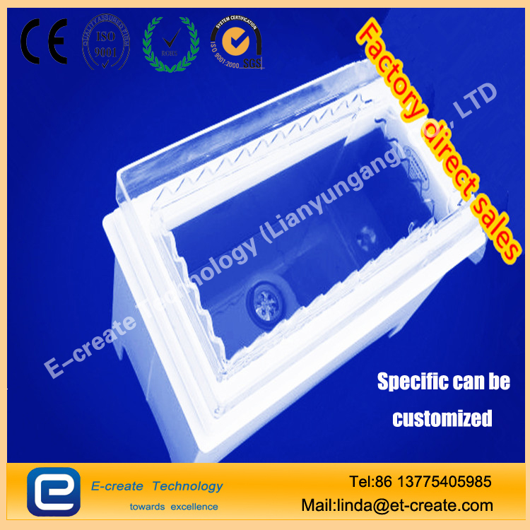 High-quality quartz cleaning tank, acid-resistant quartz square groove