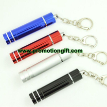 Retractable LED keychain flashlight