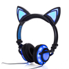 LED Cat Ear Earphone 3.5mm Wired Headphone