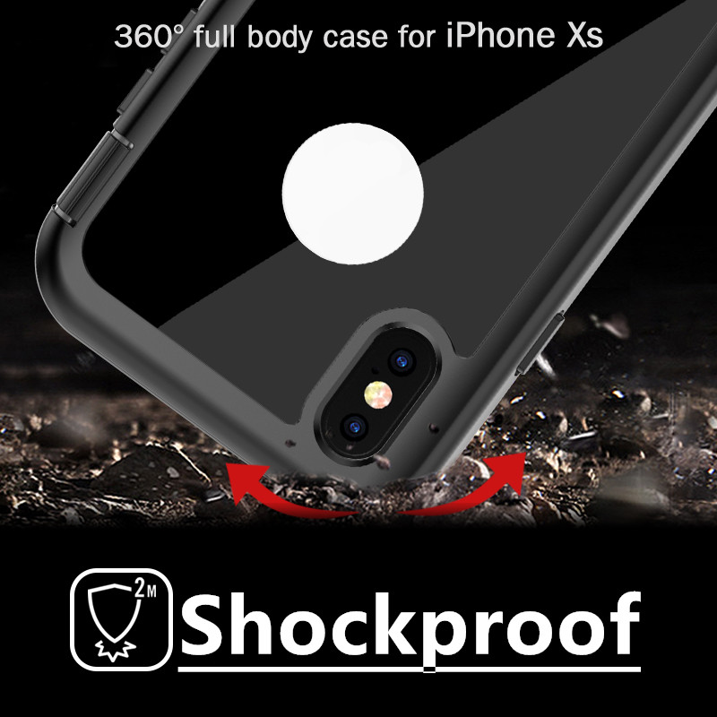 New Trend Full-body Shockproof Waterproof Rugged Phone Case for iPhone Case XS and Accessories Mobile Phone Cases for iPhone XS