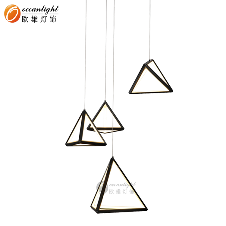 Modern Simple LED Triangle Chandelier Hanging Lamps OM801701
