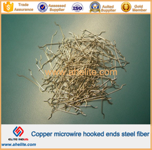 Copper microwire hooked ends steel fiber