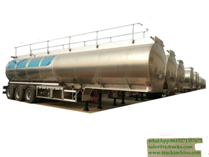 10 sets DRZ9400GYYL Aluminum Alloy Oil Tanker Semi-trailer export to TANZANIA FOB price