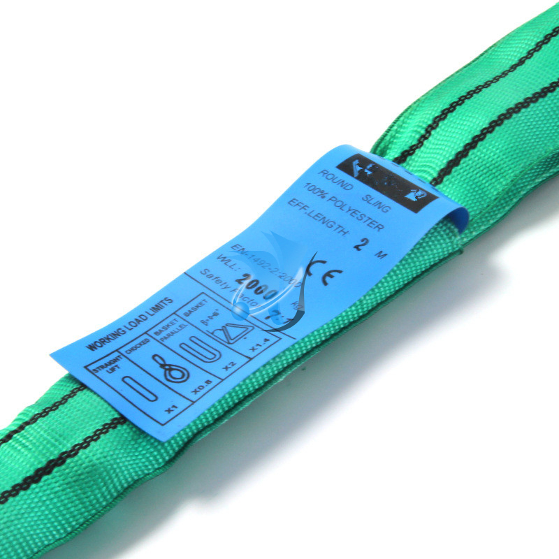 Safety Factor 7:1 2T Polyester Round Sling