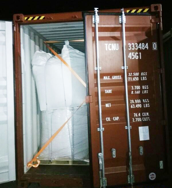 5 containers Nano Precipitated Calcium Carbonate exported to Colombia for PVC profile