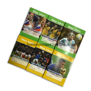 Ghana NOTE 1 exercise book 18x24cm single line with red margin staple binding cover with lamination