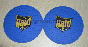 SC Johnson Raid Logo Embossed Promotional Gift PVC Coaster