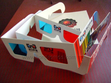 Personalized Promotional Cinema Movie Paper Red Cyan 3D Glass