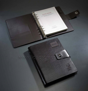 Business Executive Gift Luxury Cow Leather Loose Sheet Notebook
