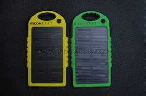 RICOH Green Gifts Waterproof 5000mah Solar Power Bank