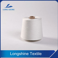 Raw White T/C Polyester Cotton Blended Core Spun Denim Yarn Producer