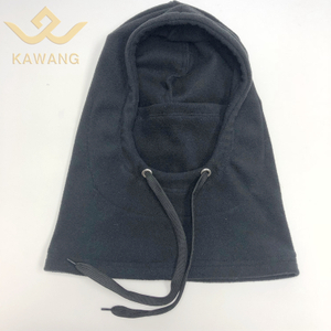 Kawang thermal fleece bike helmet hood mask knitted hinged balaclava hat