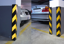 EPEM rubber corner guard for parking garage