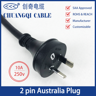 2 Pin Australia Plug Australian Power Cord with Cable SAA Certification Approved