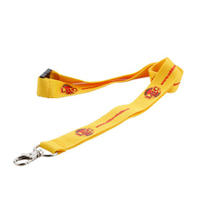 Personalized free design logo polyester lanyards with metal hook for id card holder
