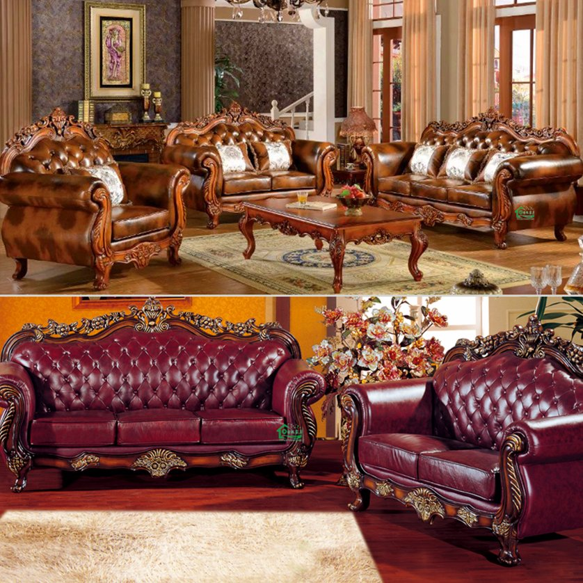 929R Leather Sofa for Home Furniture