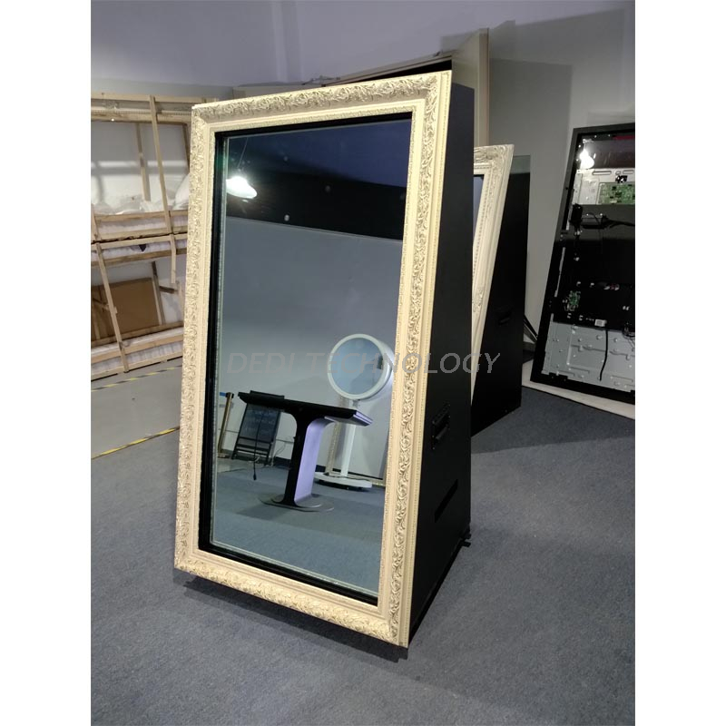 Dedi Portable Shopping Mall Instant Photo Booth, Smart Screens Totem Mirror