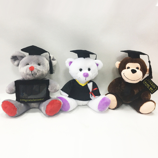 OEM Stuffed Plush Graduation Animal Graduation Teddy Bears with Cap