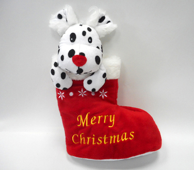 Embroidered Christmas Stocking for Christmas Tree Decoration