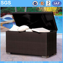 Garden Outdoor Furniture Wicker Rattan Cushion Storage Box