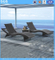 Rattan Sun Lounger Big Wave Beach Lounge Chair Outdoor Furniture