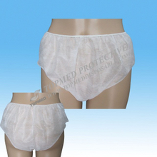 Nonwoven disposable paper panties comfortable underwear for male and female hotel travel use