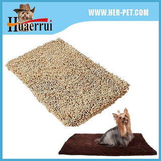 Hot sale plush microfiber chenille doormat for pet door mats
