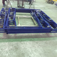 Walkthrough Frame Scaffolding with Blue Powder Coated