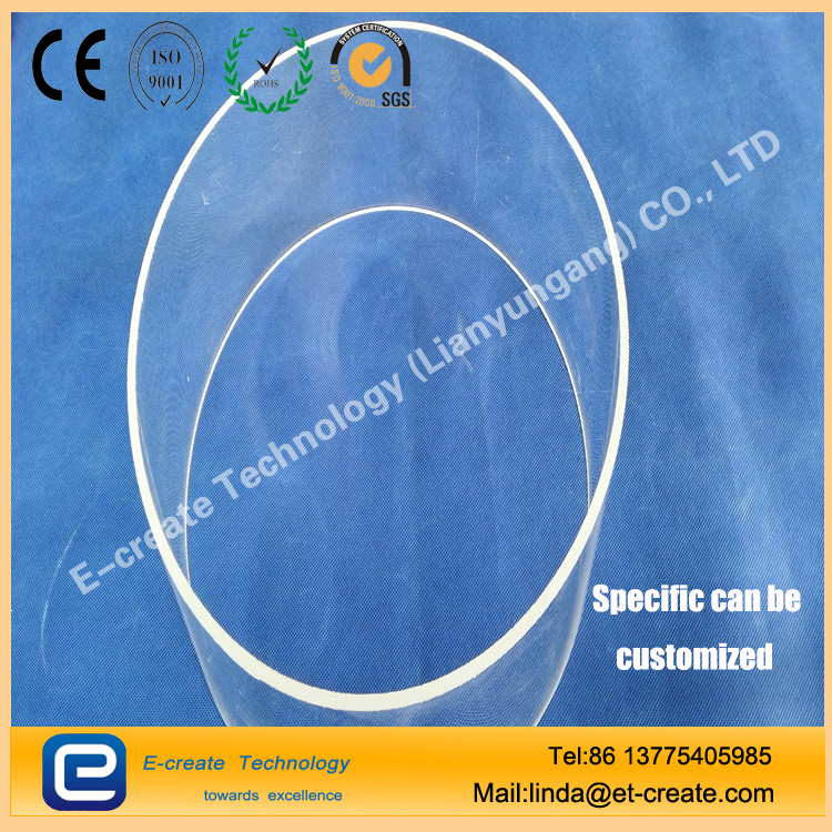Semiconductor Grade Transparent Quartz Glass Tube