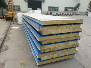 Steel Mineral Wool Panel Sandwich Panel Workshop/Warehouse/Temporary House