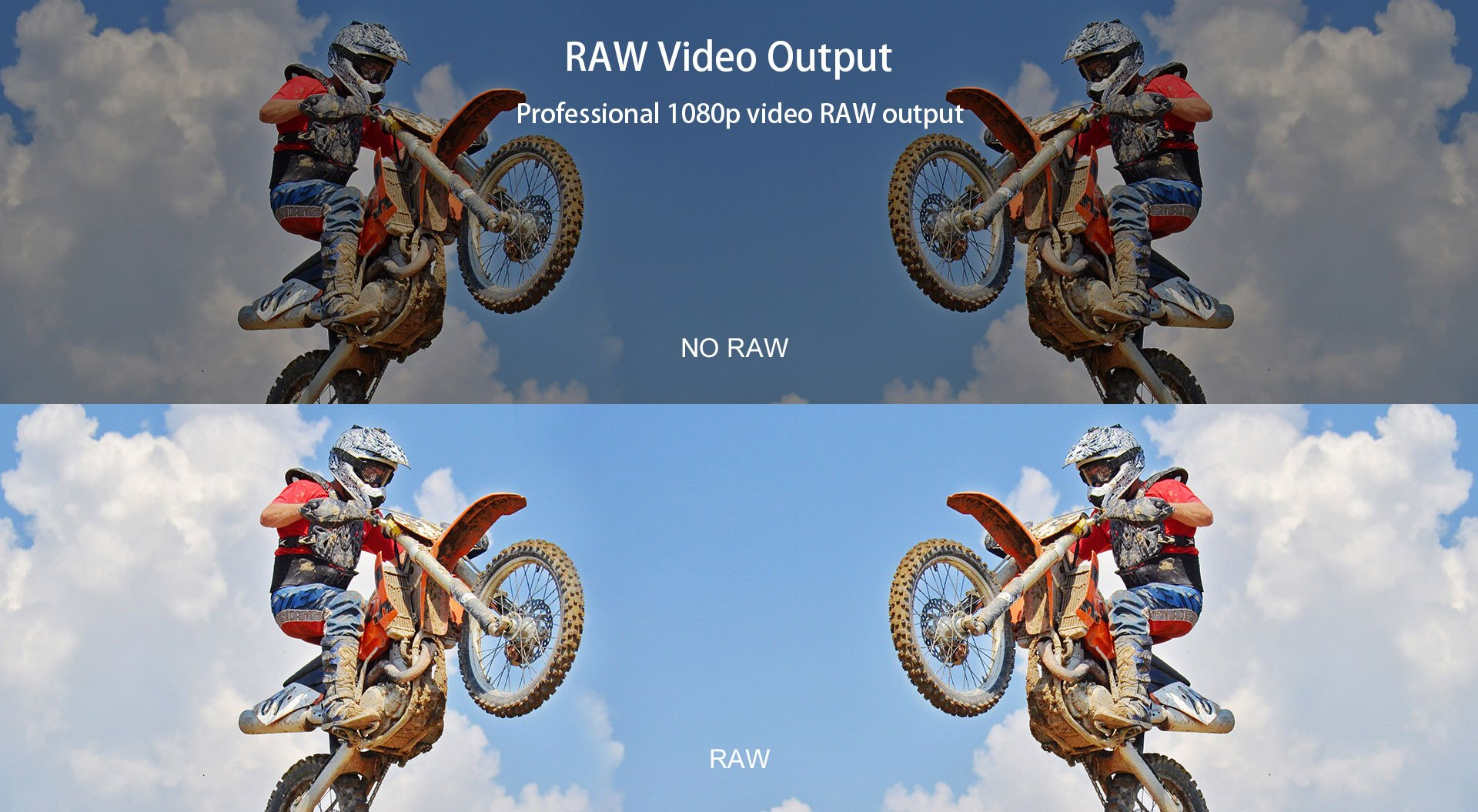 Professional 1080p video RAW output