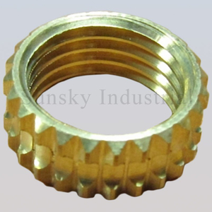 Brass nut insert machining part (AL13141)
