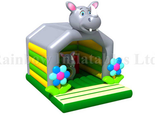 RB01026( 4x5m )Inflatables Rhinoceros Bouncer for Kids, Inflatable Animal Theme Bouncer, Inflatable Jumping Bouncer for Kids