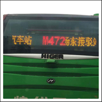 HTS-BR10-16XX Programmable LED Bus Route Sign Display