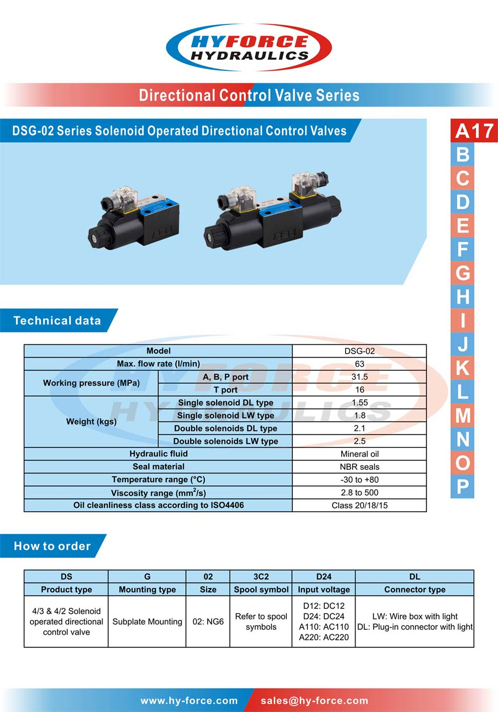 Dsg 02 series solenoid operated directional control valves buy technical data how to order spool symbols dimensions nvjuhfo Choice Image