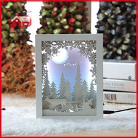 Forest Scene Shadow Box Frames Wholesale Blown Glass Wall Decoration with Plastic Frame