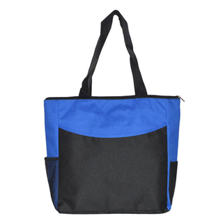 Zippered 600d Polyester Shopping Tote