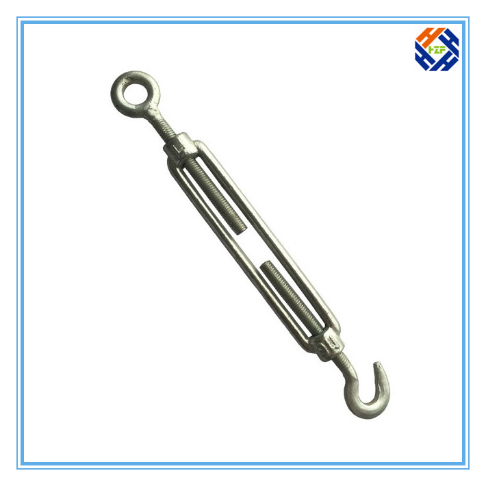Forging turnbuckle with hook plates stub ends din