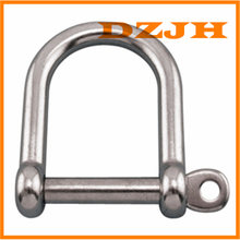 316 Stainless Steel Wide D Shackle with Screw Pin