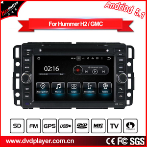 Android car video for Hummer H2 Audio dvd navigation