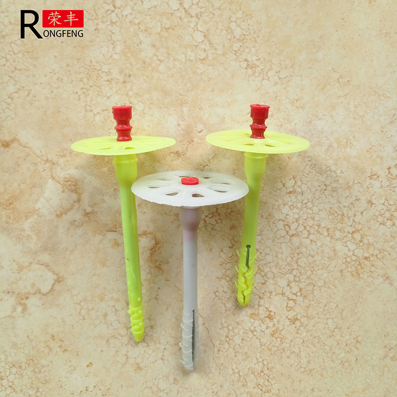 Red cap nail anchor for Insulation board /insulation anchor
