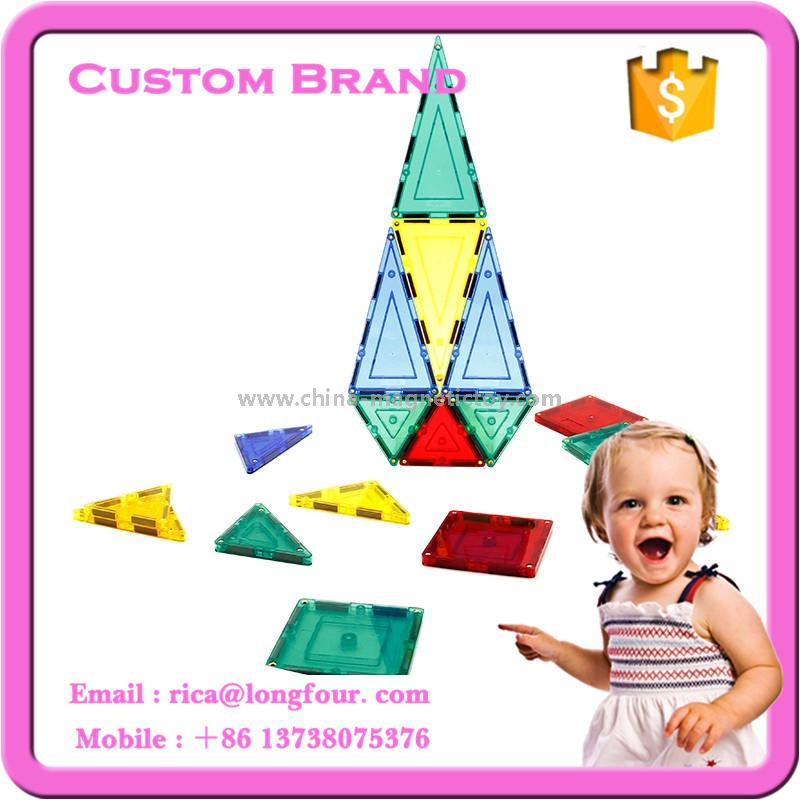 63pcs educational magentic tiles kids block toys with