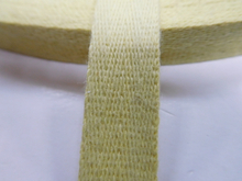 aramid fiber webbing for fire safety garments
