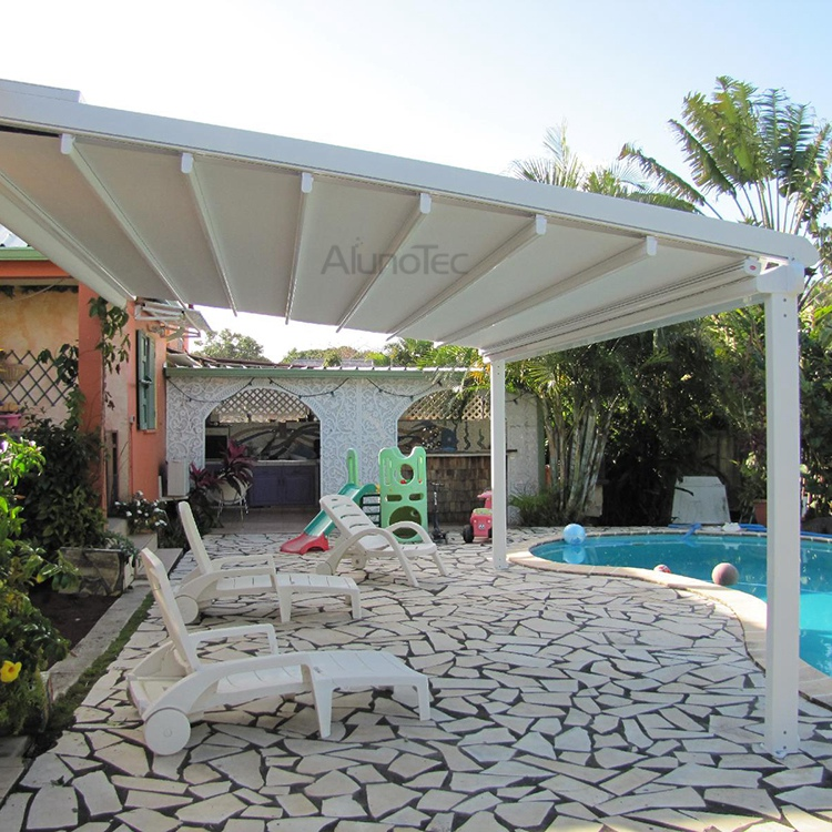 aluminum retractable pvc pergola fabric roof buy pergola. Black Bedroom Furniture Sets. Home Design Ideas