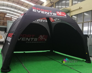 4X4X2.7M Inflatable Advertising Tent, Tradeshow Display Air Marquee, POP up Air Advertising Gazebo Tent with full color custom printing