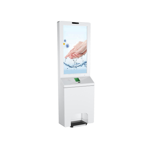 kiosk stand LCD advertising digital signage automatic touchless wall mount hand gel sanitizer dispenser