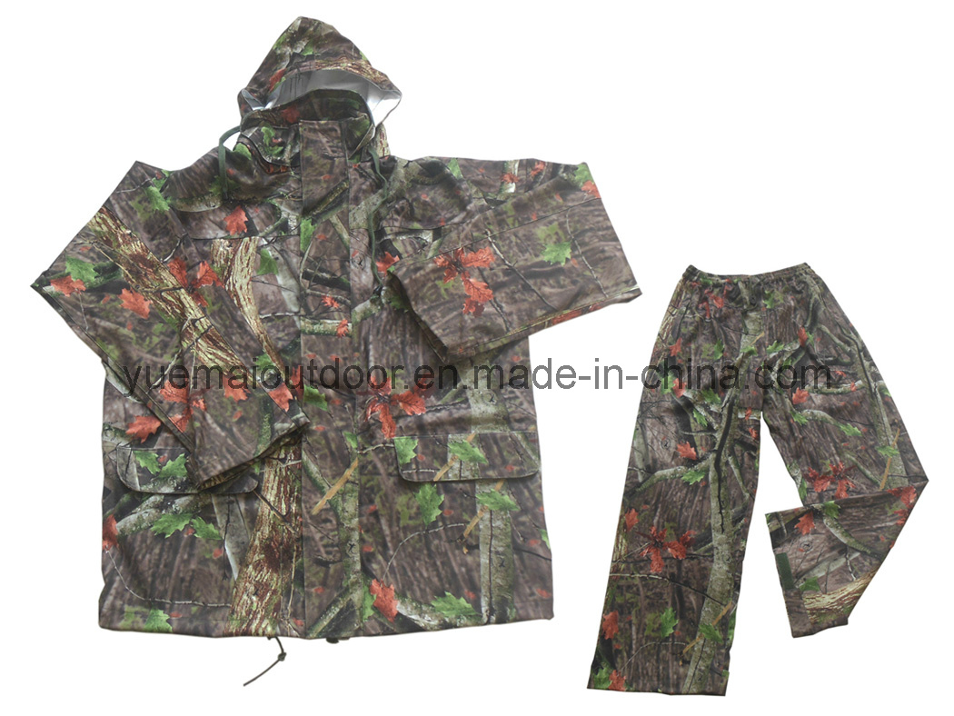 Military and Hunting Camo Rainsuit