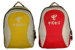 Telecome Marketing Campaign Cheap Promotional Gifts Polyester Backpack