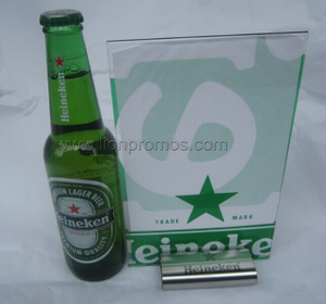 Heineken Beer Restaurant Sales Channel Gift Menu Holder