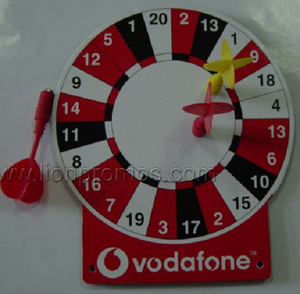 Vodafone Logo Promotional Toy Dart Board